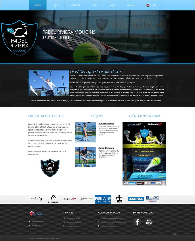 """Site """"Padel Riviera"""" à Mougins"""