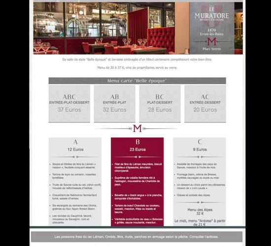 """Site """"Restaurant le Muratore"""""""