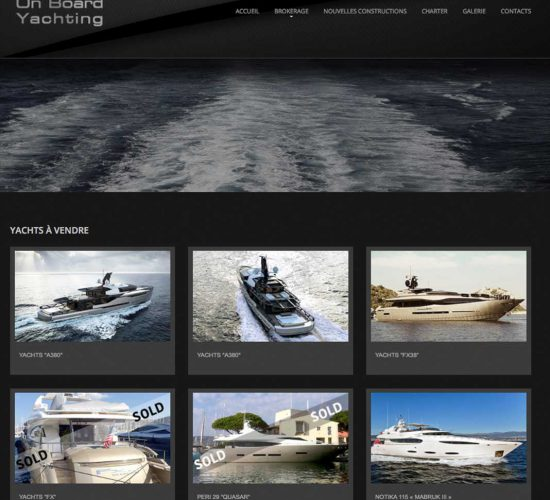 "Site ""On board Yachting"""