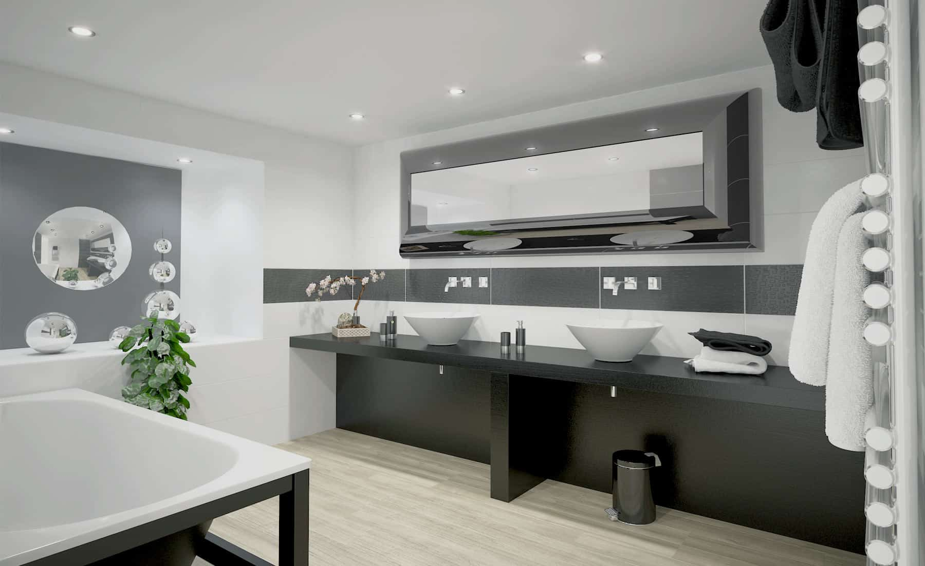 modélisation-3D Salle de bain moderne