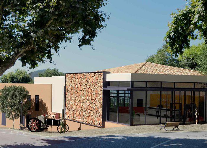 modélisation-3D d'une salle communale dans le Var