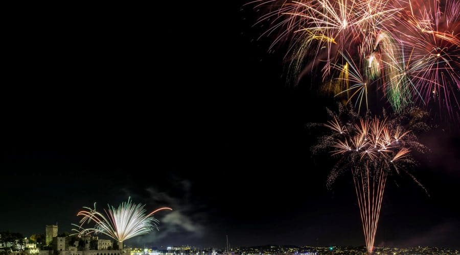 feu d'artifice Mandelieu 2018-2